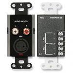 RDL Mic/Line Input Assembly, black, custom